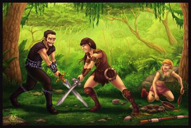 Xena vs. Ares by DolphyDolphiana