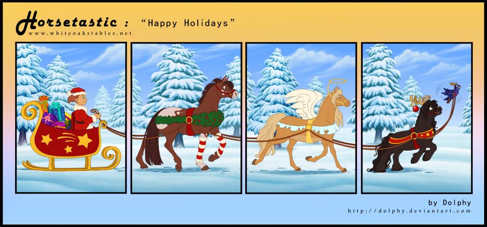 Horsetastic - Merry Christmas by DolphyDolphiana
