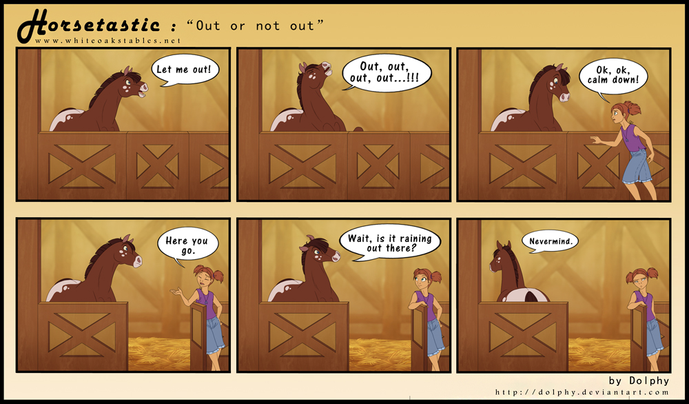 Horsetastic - Out or Not Out by DolphyDolphiana