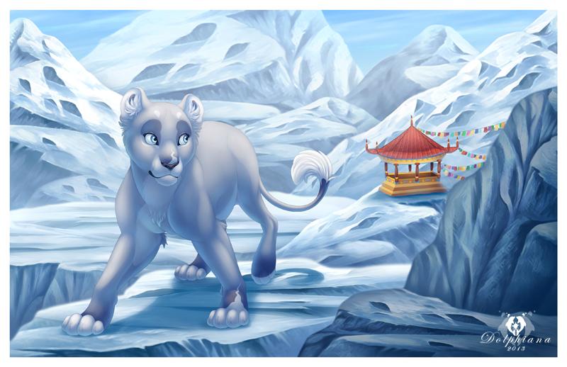 Tibetan Mountains by DolphyDolphiana