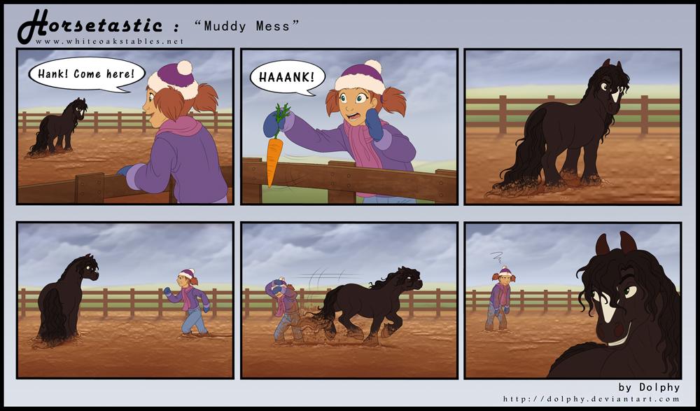 Horsetastic - Muddy Mess by DolphyDolphiana