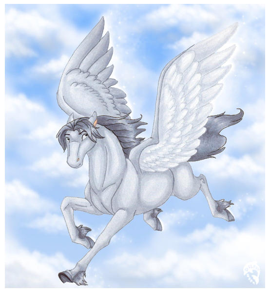 Grey Pegasus by DolphyDolphiana
