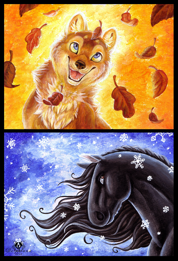 Autumn and Winter by DolphyDolphiana