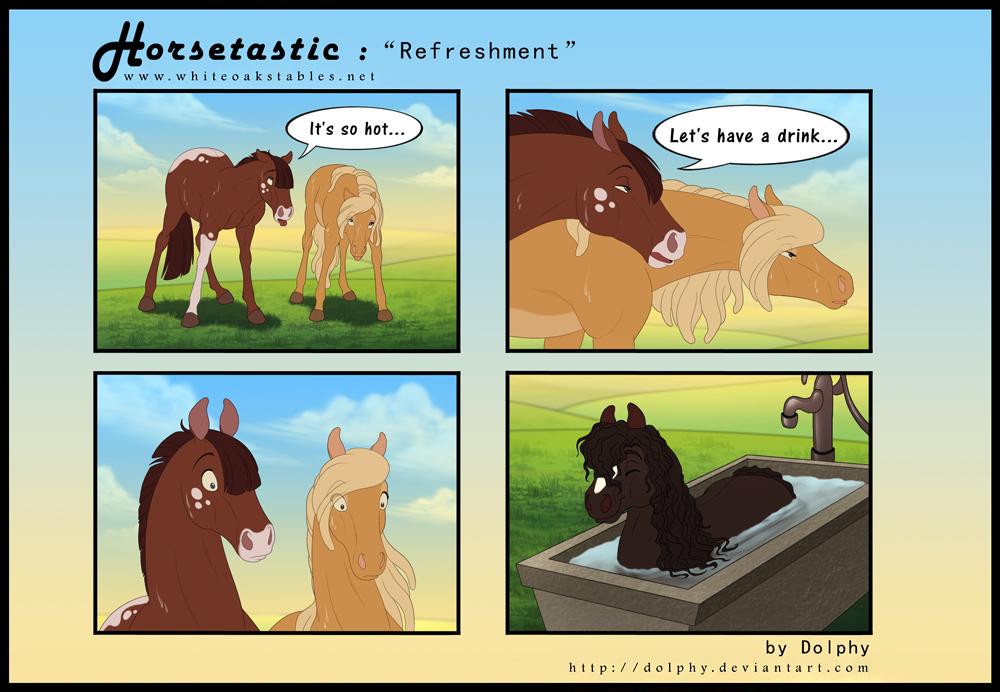 Horsetastic - Refreshment by DolphyDolphiana