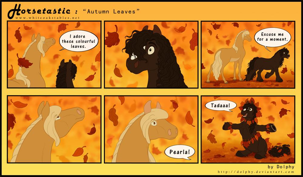 Horsetastic - Autumn Leaves by DolphyDolphiana