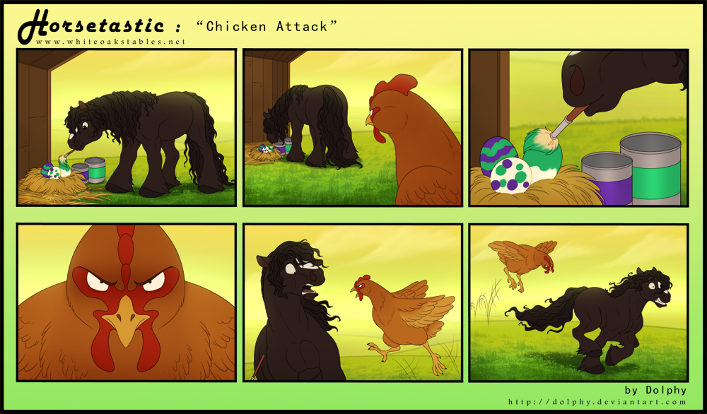 Horsetastic - Chicken Attack by DolphyDolphiana