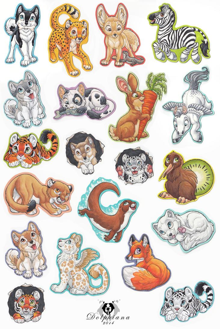 Animal Magnets by DolphyDolphiana