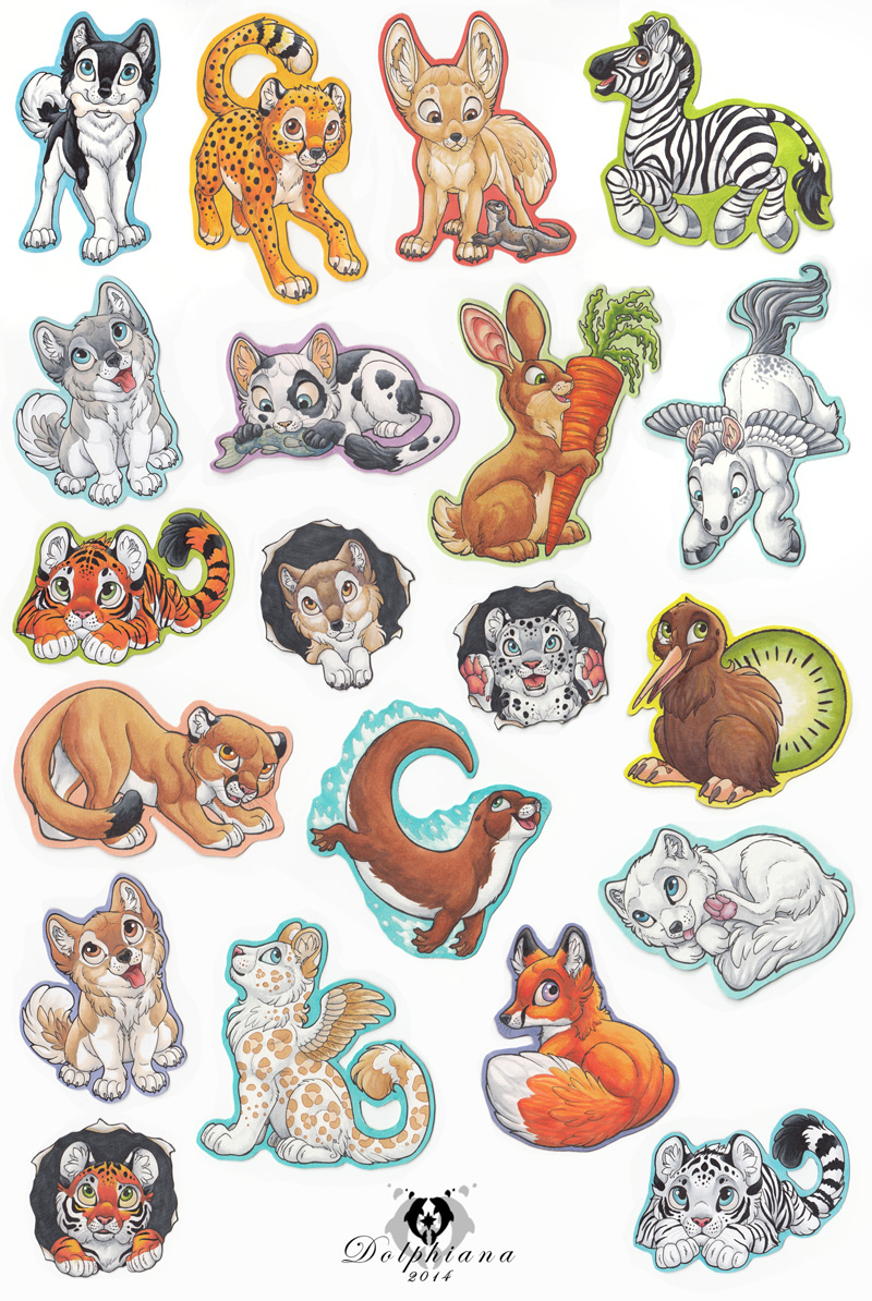 Animal Magnets by DolphyDolphiana