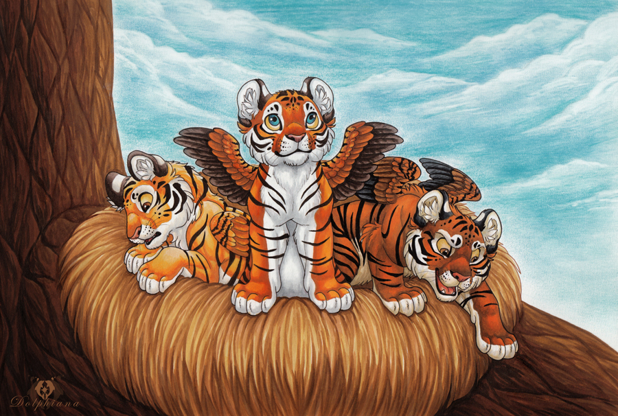 Winged Tiger Cubs