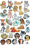 Bunch of Animal Magnets