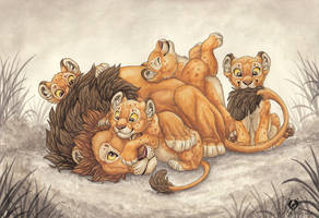 Lion Daddy by DolphyDolphiana