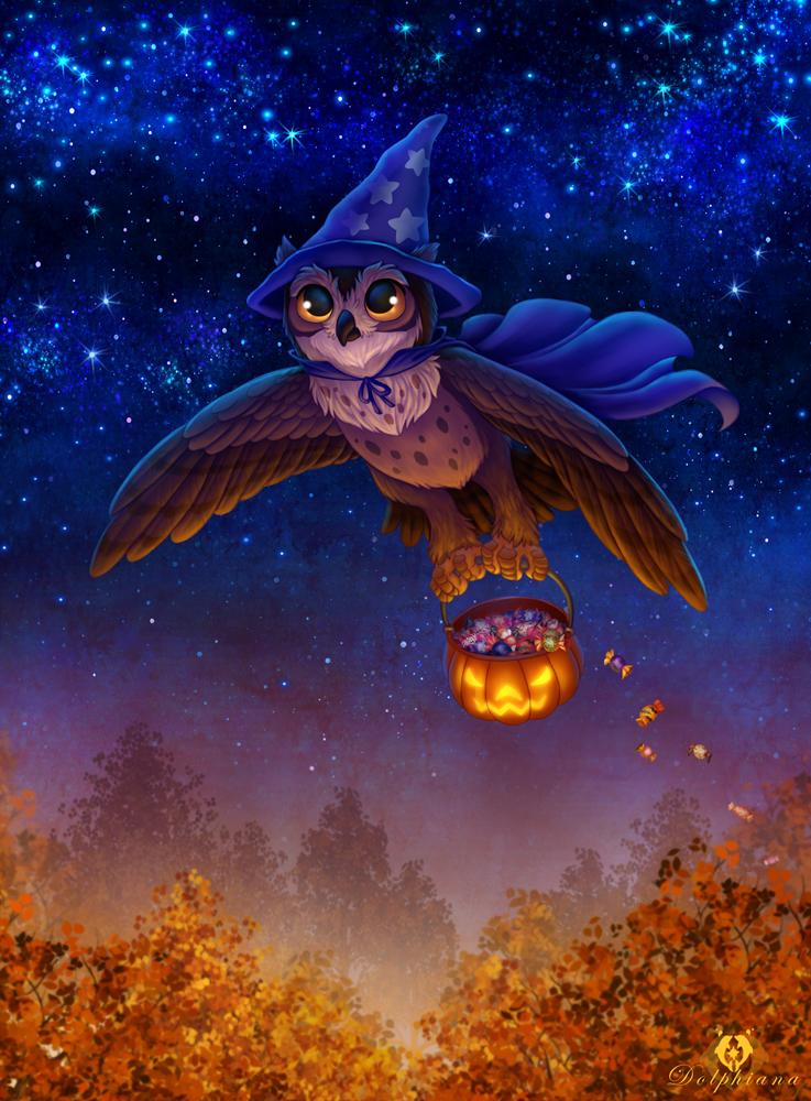 Halloween Owl by DolphyDolphiana on DeviantArt