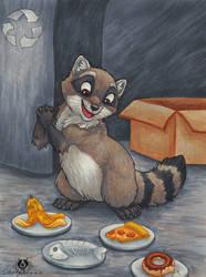 Raccoon Menue by DolphyDolphiana