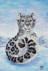 Snow Mew by DolphyDolphiana
