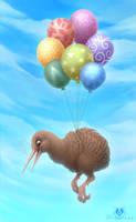 Flying Kiwi by DolphyDolphiana