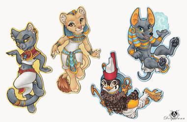 Egyptian Gods Chibis
