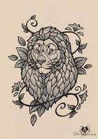 Lion Tattoo by DolphyDolphiana