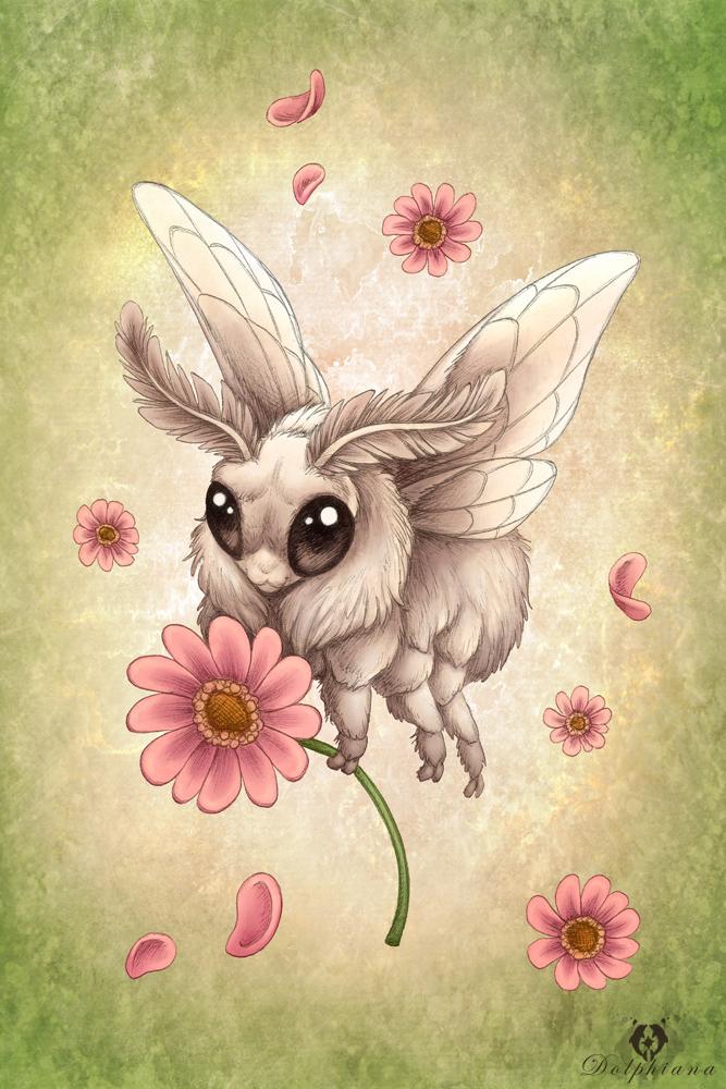 Poodle Moth by DolphyDolphiana