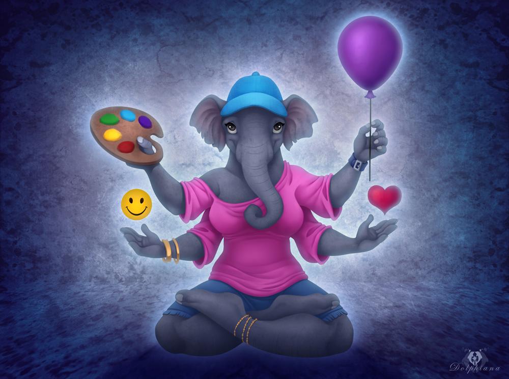 Modern Ganesha by DolphyDolphiana