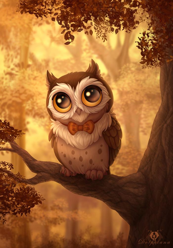 Bowtie Owl by DolphyDolphiana