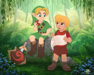 Link and Cody by DolphyDolphiana