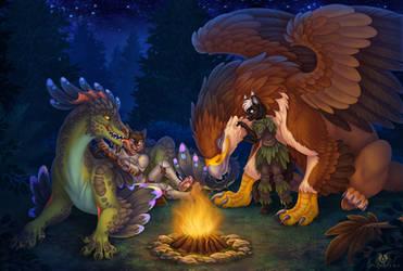 Campfire Night by DolphyDolphiana
