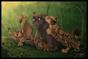 Jungle Friends by DolphyDolphiana