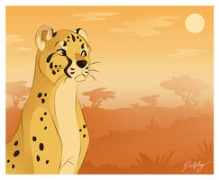 Stylized Cheetah by DolphyDolphiana