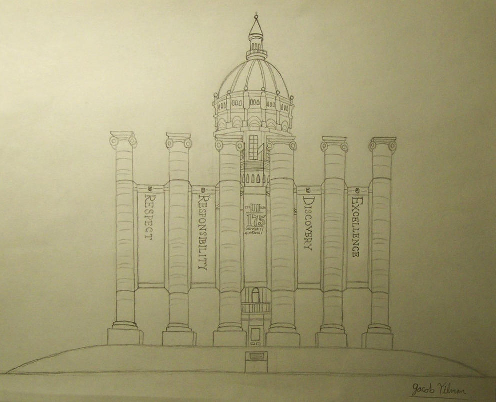 Francis Quadrangle Sketch by smartguy123