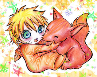 Naruto and the fox by elisamoriconi