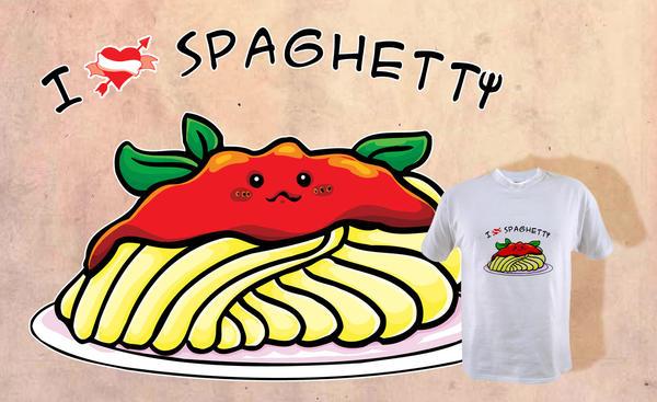 I love Spaghetti by elisamoriconi
