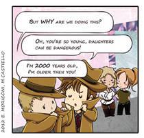 Comic Who - Stalking by elisamoriconi