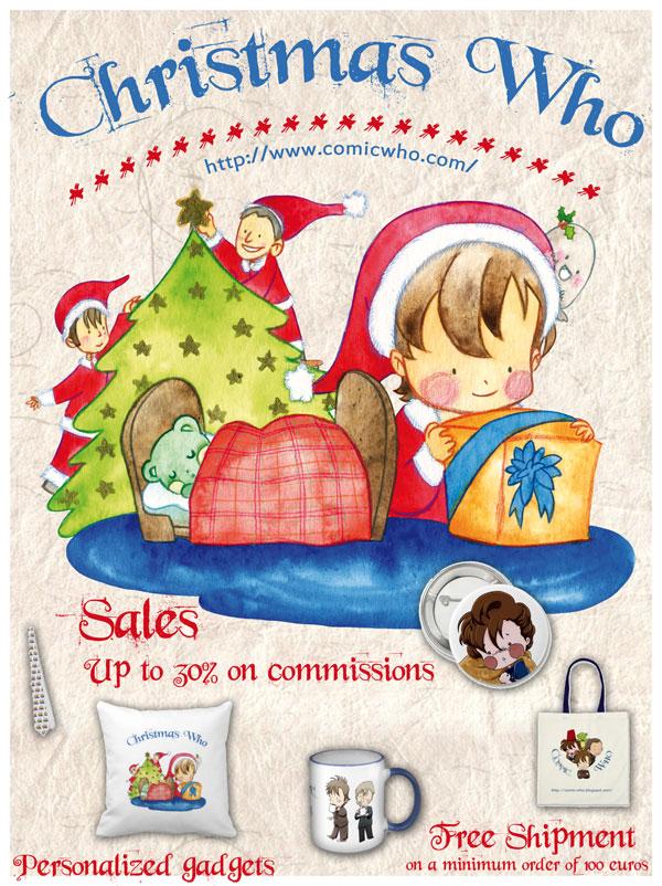 Christmas sales - Comic Who by elisamoriconi