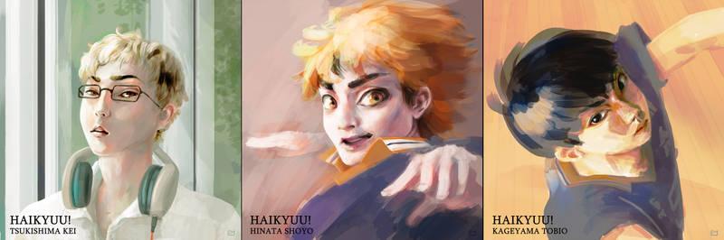 Haikyuu - Portrait painting exercise