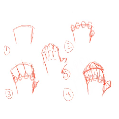 Anthro Hand Tutorials by AngelTigress03