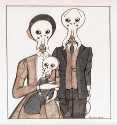 Just another 'ordinary' familyportrait by Full-Metal-Cupcake