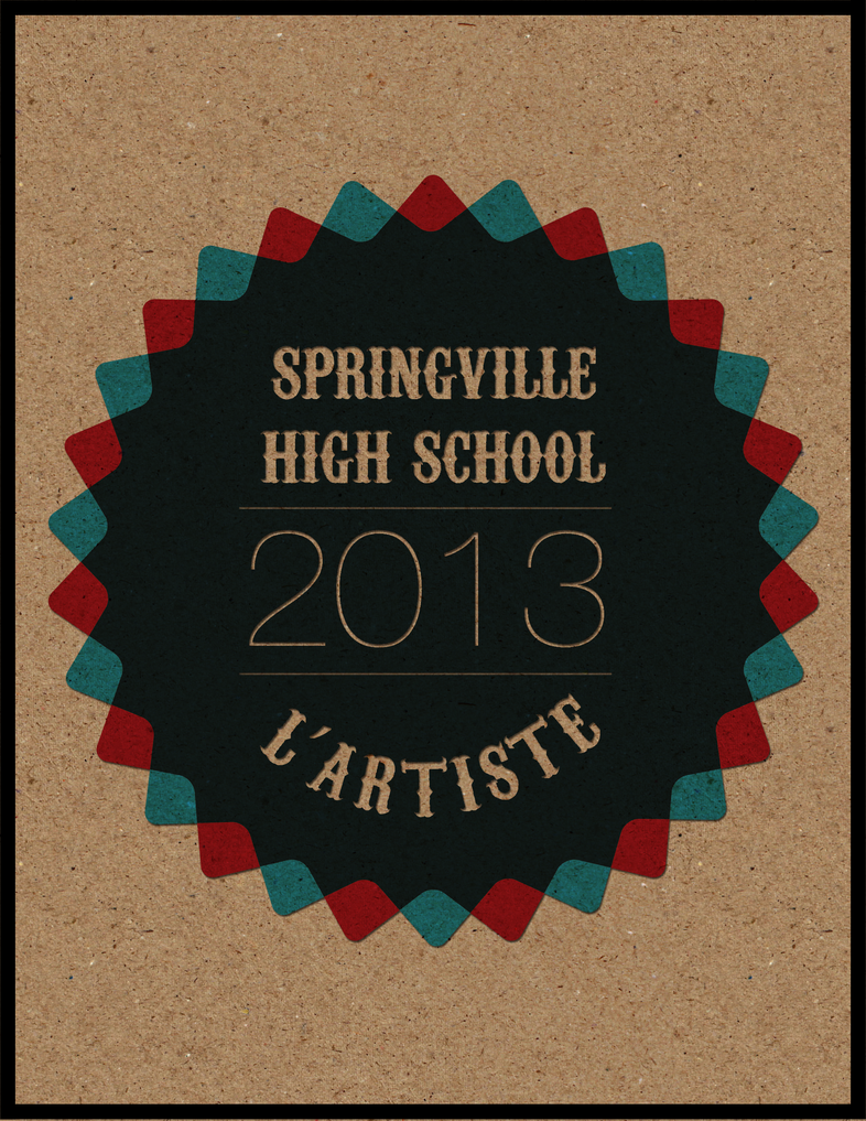 High School Book Cover Ideas : Other springville high school yearbook cover by j m k
