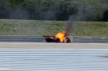 Lancia LC2 On fire by guillaumes2