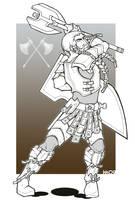 Borgator Dwarf Cleric by Nephtis