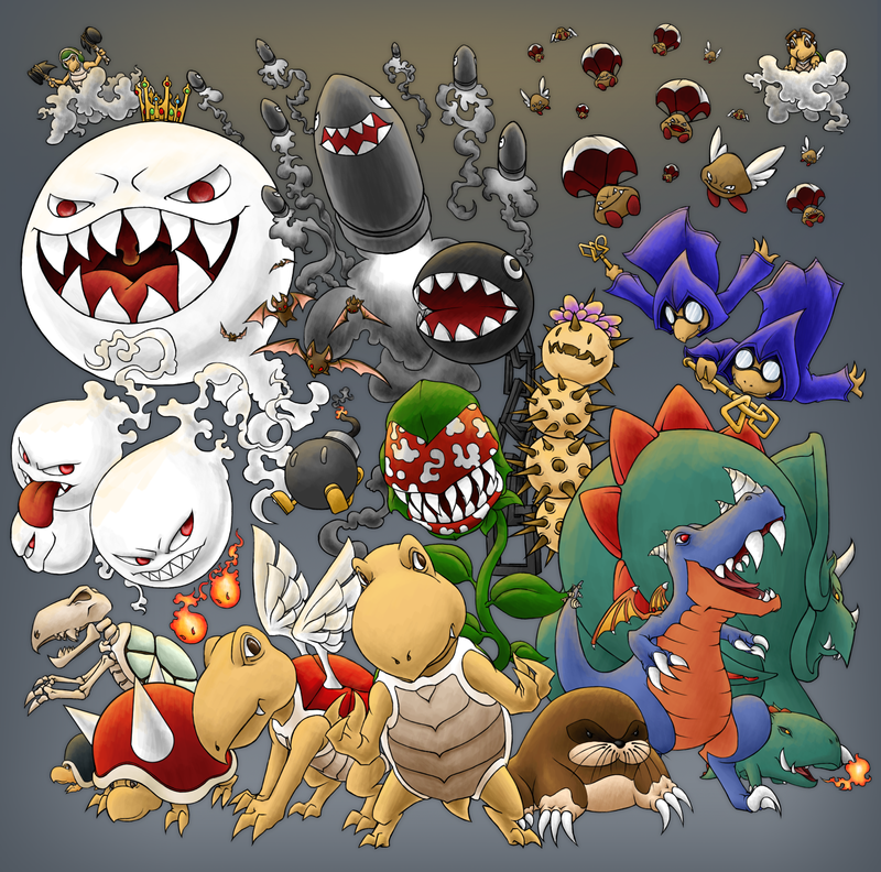 Mario Monsters by Kevichan