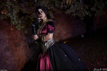 Well well, what have we here? - Morrigan cosplay by Achico-Xion