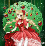 Marry X-Mas in traditionall red by jennylizmanga