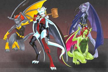 102609 Gotham Gargoyles by GillyPerkyGoth