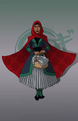 111615 Little Red Riding Hijab by GillyPerkyGoth
