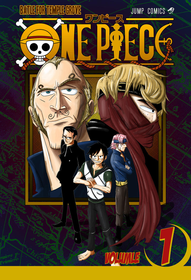 One Piece Fan Manga: Volume 1 Cover by vonmatrix5000