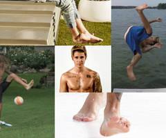 Justin Bieber Barefoot Collage by Tickler24