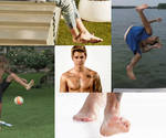 Justin Bieber Barefoot Collage