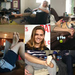 Dylan Sprouse Barefoot Collage