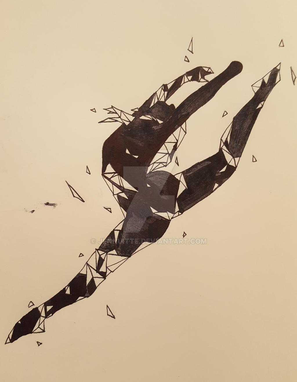 Dissolving Dancer #2 by Jennuitte