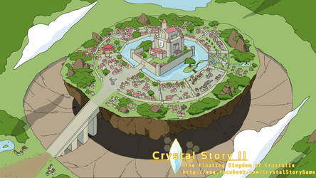 Floating Kingdom of Crystalia by Lan14n